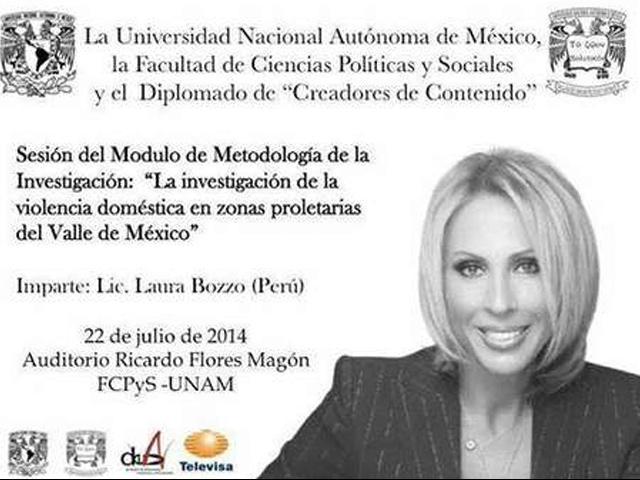 Así anuncio la la UNAM la presencia de Laura Bozzo para dictar cátedra