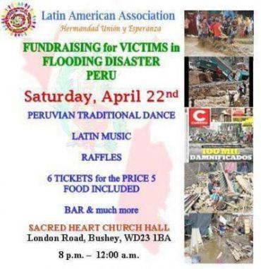 La comunidad peruana en Londres se alista a colaborar con otra actividad de solidaridad para los afectador por las lluvias en nuestro país.