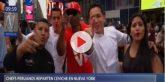 Entusiastas jóvenes peruanos pusieron alegría ys abor en calles de Nueva York